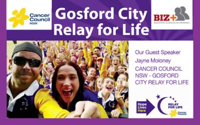 Jayne Moloney – Cancer Council NSW – Gosford City Relay for Life